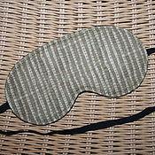 Сувениры и подарки ручной работы. Ярмарка Мастеров - ручная работа Маска для сна Бежево-коричневая полосатая. Handmade.