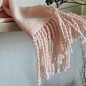 Аксессуары handmade. Livemaster - original item Scarf Stole Pink Woven Merino/Cashmere/Angora. Handmade.