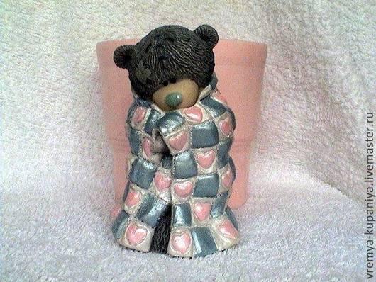 """Другие виды рукоделия ручной работы. Ярмарка Мастеров - ручная работа. Купить Силиконовая форма для мыла  """"Тедди в одеяльце"""". Handmade."""