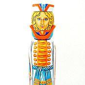 """Русский стиль ручной работы. Ярмарка Мастеров - ручная работа Штоф под шампанское """"Принц"""", расписной деревянный футляр под бутылку. Handmade."""