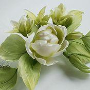 Цветы и флористика handmade. Livemaster - original item Silk flowers. Flower-brooch