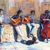 """Картины и панно ручной работы. Ярмарка Мастеров - ручная работа картина """"Флоренция. Музыка города"""". Handmade."""