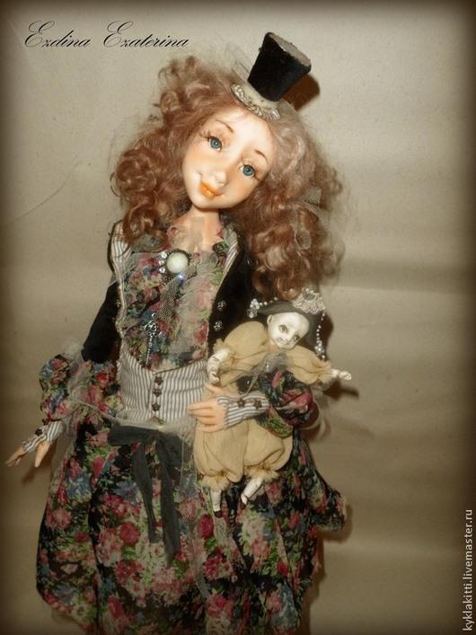 Коллекционные куклы ручной работы. Ярмарка Мастеров - ручная работа. Купить Мэри и Поль. Handmade. Авторская кукла, миниатюра, Паперклей