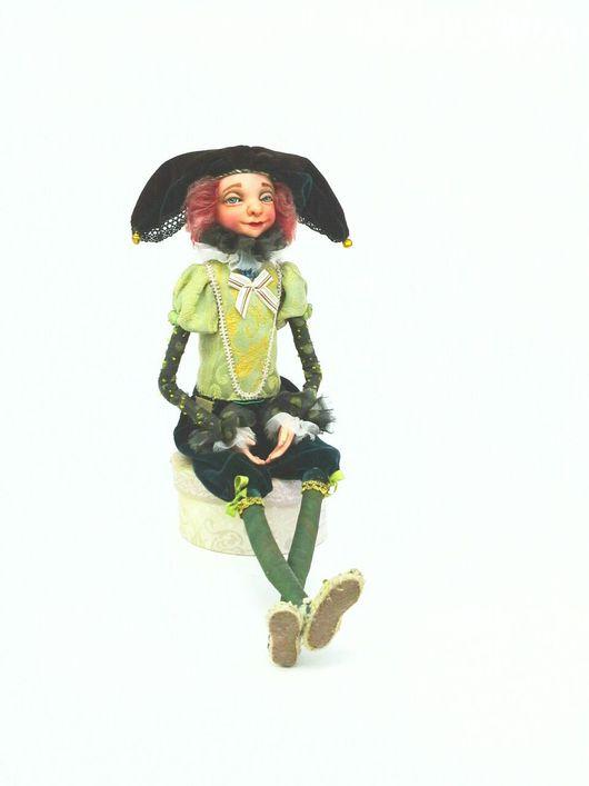 Коллекционные куклы ручной работы. Ярмарка Мастеров - ручная работа. Купить Шут Франтишек. Handmade. Тёмно-зелёный, кукла интерьерная