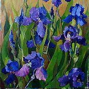 Картины и панно handmade. Livemaster - original item 40на30 painting Irises oil on canvas Flowers. Handmade.