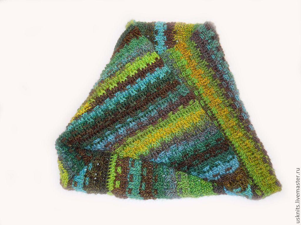 Crochet Snood (scarf-pipe) Moebius from 100% wool – shop online on ...