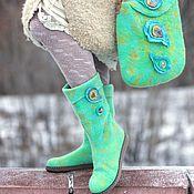 """Обувь ручной работы. Ярмарка Мастеров - ручная работа Комплект """"Райская птичка"""". Handmade."""