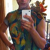 """Одежда ручной работы. Ярмарка Мастеров - ручная работа Платье шерстяное """"блики на кране"""". Handmade."""