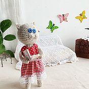 Мягкие игрушки ручной работы. Ярмарка Мастеров - ручная работа Мягкая игрушка вязаная кошка кошечка Котейкина. Handmade.
