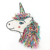 Материалы для творчества handmade. Livemaster - original item Author stripe (applique) handmade spring unicorn. Handmade.