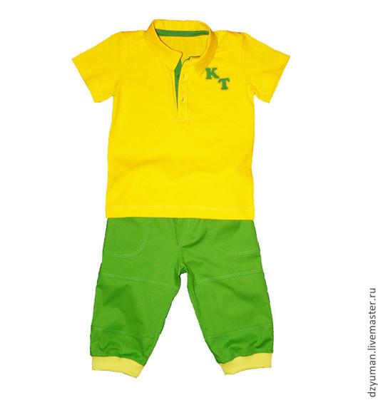 """Одежда для мальчиков, ручной работы. Ярмарка Мастеров - ручная работа. Купить Комплект """"Солнечный день"""". Handmade. Однотонный, для мальчика"""