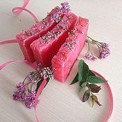 Косметика ручной работы handmade. Livemaster - original item Soap from scratch natural Heather honey honey with honey pink. Handmade.