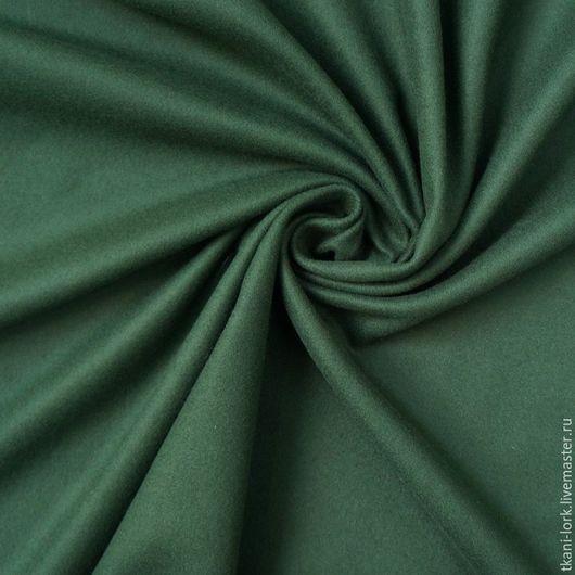 Шитье ручной работы. Ярмарка Мастеров - ручная работа. Купить Пальтовая шерсть. Handmade. Тёмно-зелёный, ткань для творчества