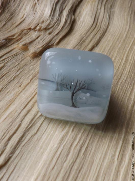 """Кольца ручной работы. Ярмарка Мастеров - ручная работа. Купить кольцо """"Снег идёт"""". Handmade. Серый, бохо украшения, стекло"""