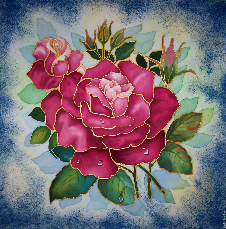 Купить батик картины цветы цветы комнатные цветущие купить