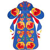 Одежда handmade. Livemaster - original item Blue dress with floral embroidery. Handmade.