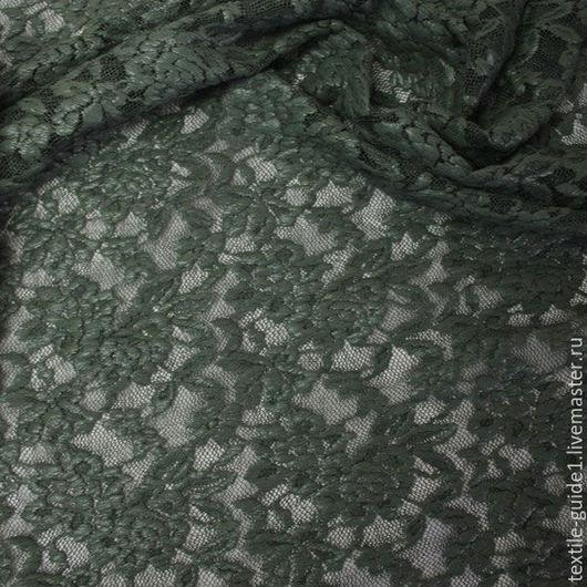 Шитье ручной работы. Ярмарка Мастеров - ручная работа. Купить Кружево Германия 9036656. Handmade. Тёмно-зелёный, Кружево для шитья