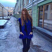 """Одежда ручной работы. Ярмарка Мастеров - ручная работа Жилет женский 46-48 размер валяный """"королевский синий"""". Handmade."""