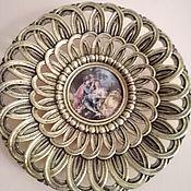 Винтаж handmade. Livemaster - original item Vintage: A pair of amazing bronze wall plates with medallions. Handmade.