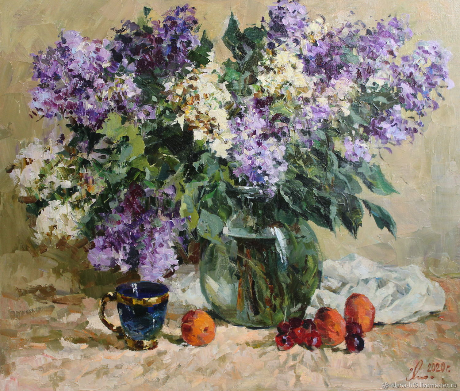 A picture. Lilac and fruits, Pictures, St. Petersburg,  Фото №1