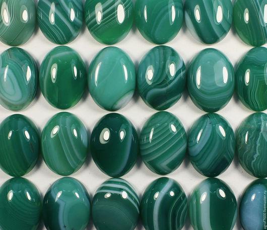 Для украшений ручной работы. Ярмарка Мастеров - ручная работа. Купить Агат, кабошон зеленый 20х15 мм овал. Handmade.