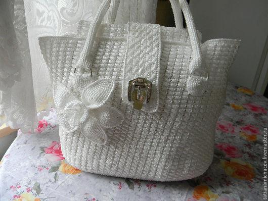 Женские сумки ручной работы. Ярмарка Мастеров - ручная работа. Купить сумочка с нарциссом. Handmade. Белый, сумка женская