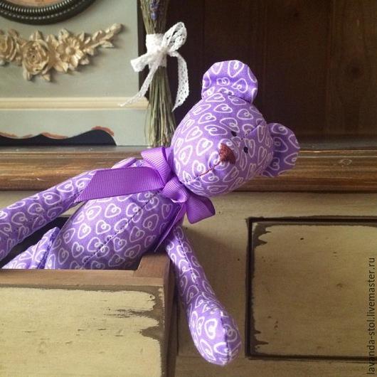 Куклы Тильды ручной работы. Ярмарка Мастеров - ручная работа. Купить Лавандовый мишка (мальчик). Handmade. Сиреневый, сухоцветы