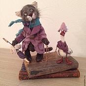 Куклы и игрушки ручной работы. Ярмарка Мастеров - ручная работа кот и гусь. Handmade.