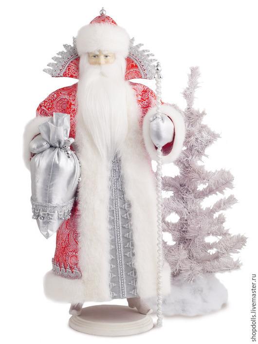 Коллекционные куклы ручной работы. Ярмарка Мастеров - ручная работа. Купить кула Дед Мороз. Handmade. Ярко-красный