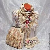 """Аксессуары ручной работы. Ярмарка Мастеров - ручная работа валяный комплект""""Сухоцветы"""". Handmade."""