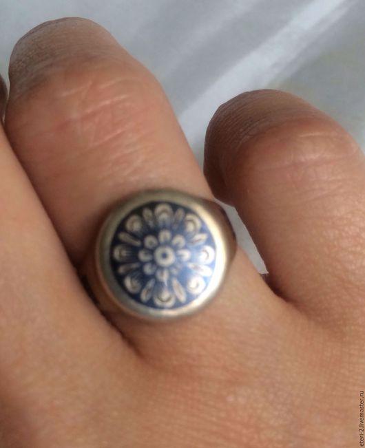 Винтажные украшения. Ярмарка Мастеров - ручная работа. Купить Винтажное серебряное кольцо. Handmade. Серебряный, винтажное кольцо, художественное стекло