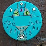 Музыкальные инструменты handmade. Livemaster - original item Positive - mini. Tambourine Vedic. Handmade.