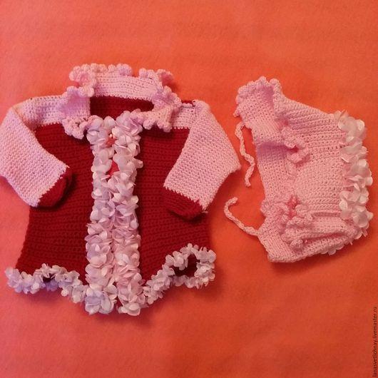 """Одежда для девочек, ручной работы. Ярмарка Мастеров - ручная работа. Купить Комплект для новорожденной """"Вальс цветов"""". Handmade. Розовый, для принцессы"""