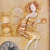 """Для дома и интерьера ручной работы. Ярмарка Мастеров - ручная работа Часы """"Чашка чая"""". Handmade."""