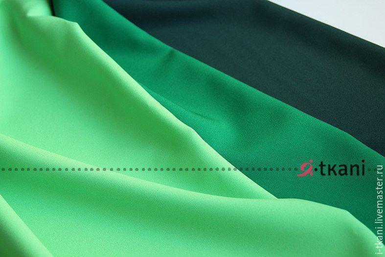 Ткань для пошива платья зеленого цвета
