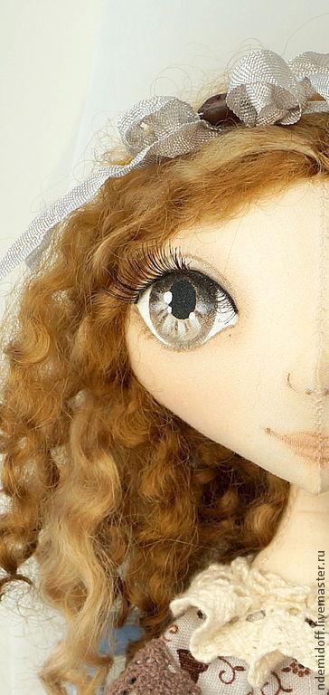 Куклы тыквоголовки ручной работы. Ярмарка Мастеров - ручная работа. Купить Текстильная кукла Кофеечка. Handmade. Коричневый, интерьерная кукла