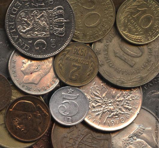 Для украшений ручной работы. Ярмарка Мастеров - ручная работа. Купить Один килограмм иностранных монет для дизайнерских украшений. Handmade.