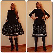 Одежда ручной работы. Ярмарка Мастеров - ручная работа юбка шерстяная с вышивкой. Handmade.