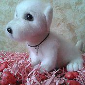 Куклы и игрушки ручной работы. Ярмарка Мастеров - ручная работа валяный щенок пушистик. Handmade.