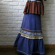 Одежда ручной работы. Ярмарка Мастеров - ручная работа Юбка в пол, бохо, русский стиль. Handmade.