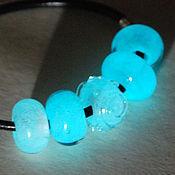 Материалы для творчества handmade. Livemaster - original item Luminous beads with large hole for bracelet. Handmade.
