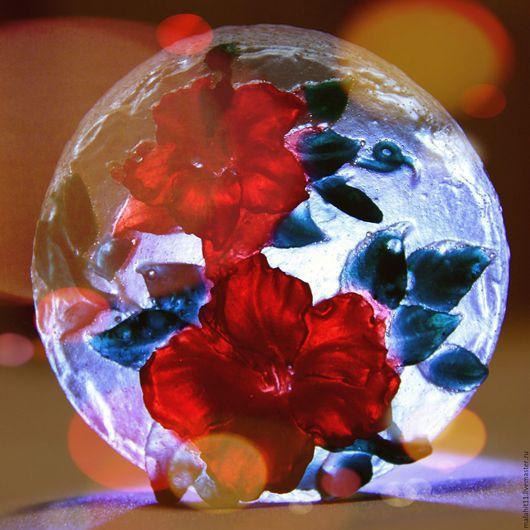 Мыло ручной работы. Ярмарка Мастеров - ручная работа. Купить Цветы на льду. Handmade. Подарок на новый год, натуральное мыло