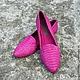 Обувь ручной работы. Ярмарка Мастеров - ручная работа. Купить Слиперы из натуральной кожи питона. Handmade. Фуксия