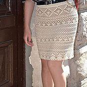 Одежда handmade. Livemaster - original item Silk knitted skirt crochet