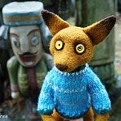 Куклы и игрушки ручной работы. Ярмарка Мастеров - ручная работа Лис Рудольф валяная игрушка из шерсти. Handmade.