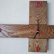 Часы классические ручной работы. Ярмарка Мастеров - ручная работа Часы деревянные-созвездие Южный крест. Handmade.