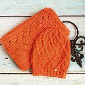 Аксессуары handmade. Livemaster - original item Set cap and scarf