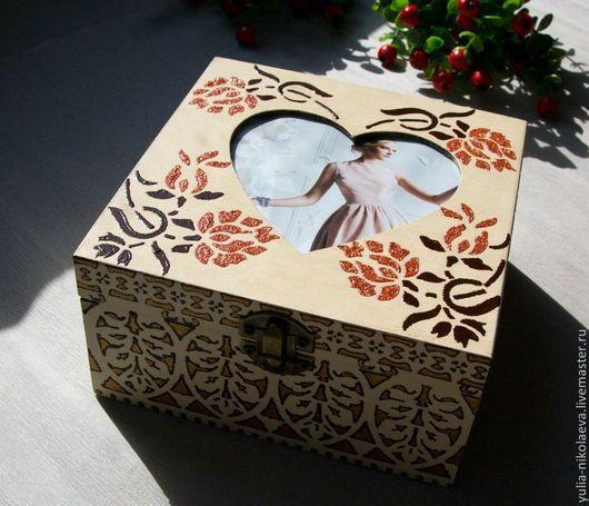 Шкатулки ручной работы. Ярмарка Мастеров - ручная работа. Купить В сердце цветы. Handmade. Желтый, подарок на любой случай