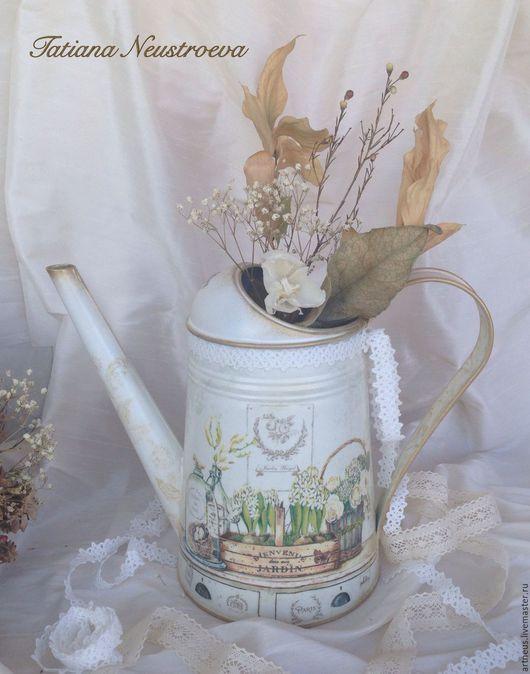"""Лейки ручной работы. Ярмарка Мастеров - ручная работа. Купить Лейка-ваза """"Jardin de Paris"""". Handmade. Белый, ваза"""