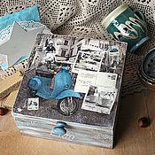 """Для дома и интерьера ручной работы. Ярмарка Мастеров - ручная работа Шкатулка для чая """"Римский завтрак"""". Handmade."""